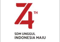 Logo HUT RI Ke 74 Vector Cdr