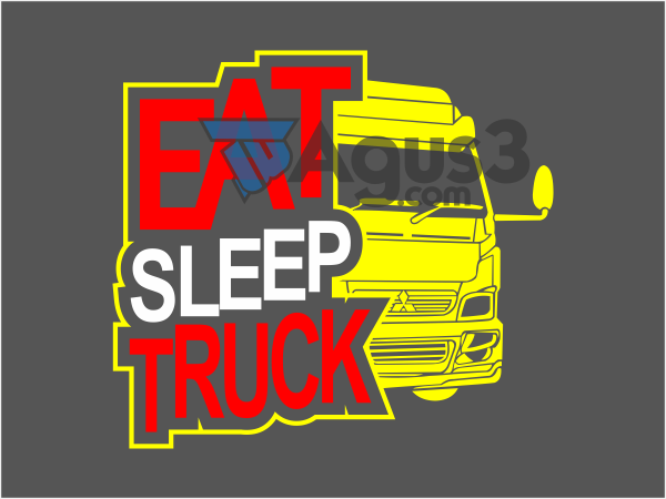 Eat Sleep Truck Vector Format CDR, PNG
